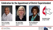 Three new district superintendents installed in online service