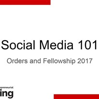 Orders & Fellowship 2017 - Social Media Workshop
