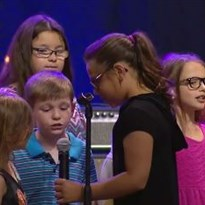 AC2017: Opening Worship - children singing during offering